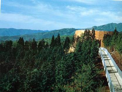 Tadao Ando. Museum of Wood. Mikata-gun forest