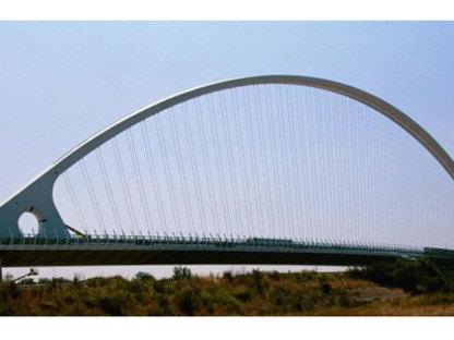 Reggio Emilia. Motorway bridge. Santiago Calatrava. 2007
