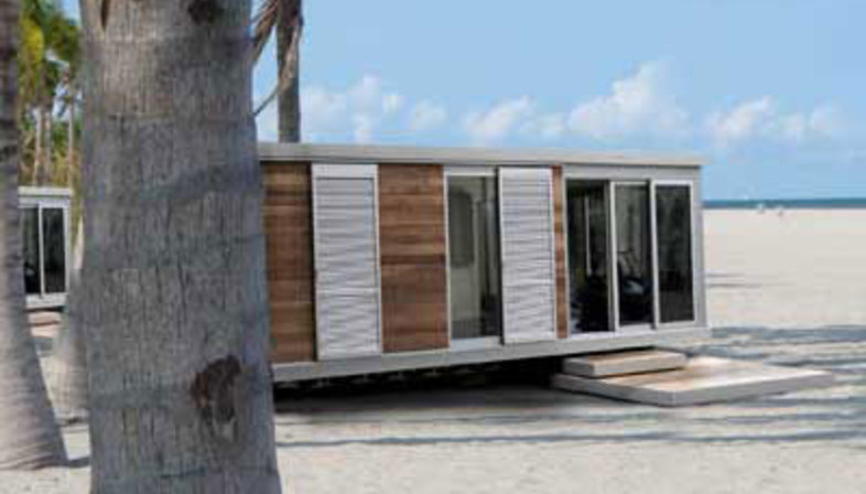 Three mobile home models designed by the Hangar Design Group ...