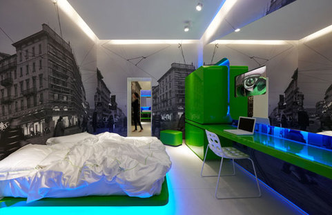 The first suite, dominated by the colour green