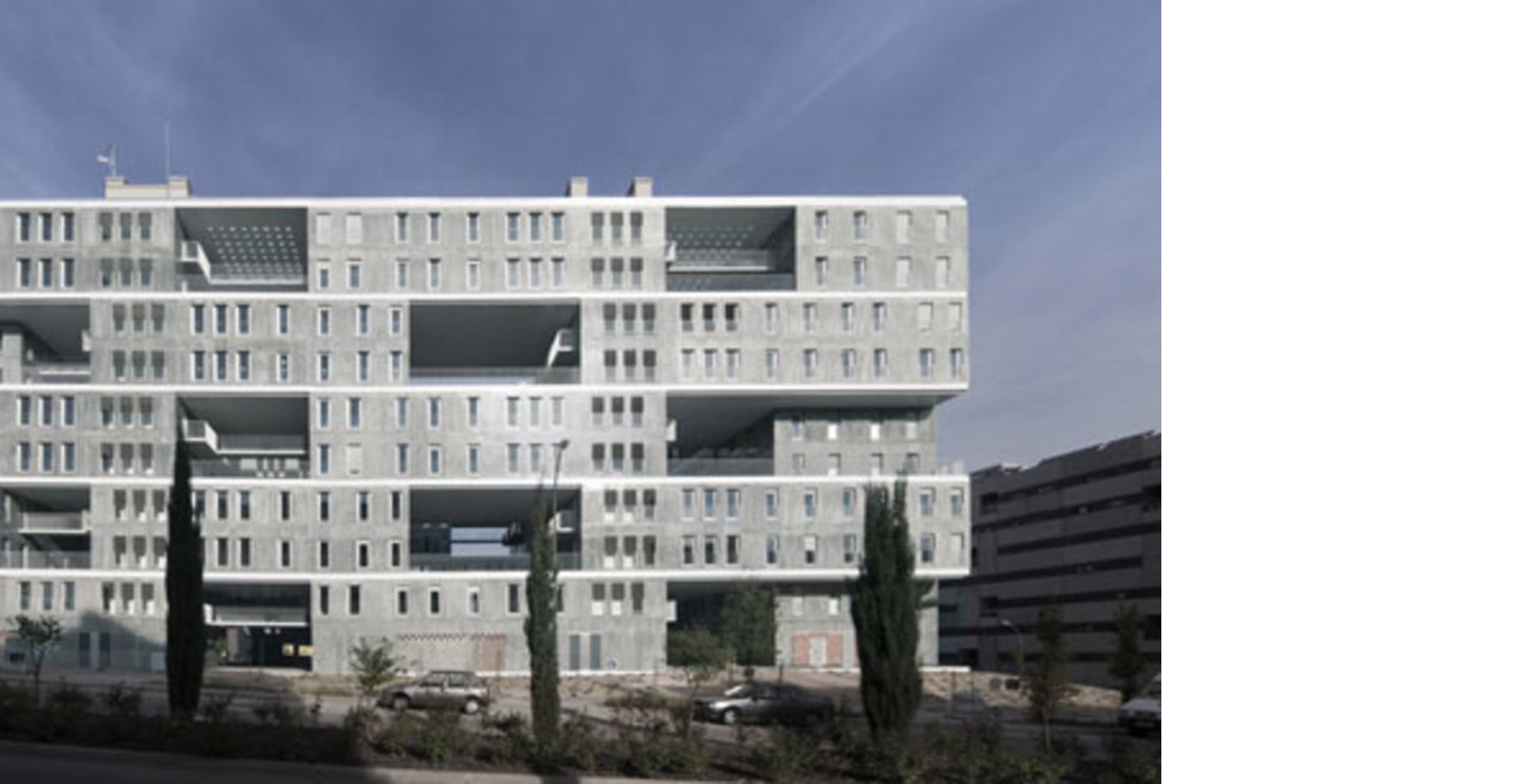 The rhythm of the façade