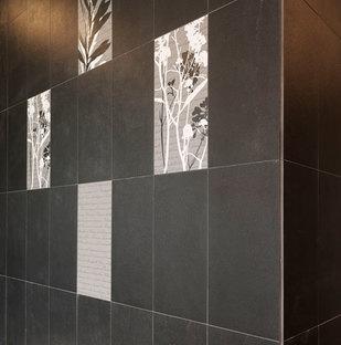 Porcelaingres' Oltimer cladding in the entrances, decorative variants