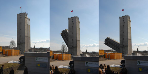 Demolition of a portion of the silo