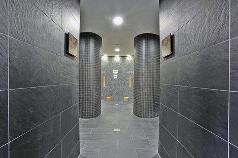 Black Ardesia wall tiles by Ariostea