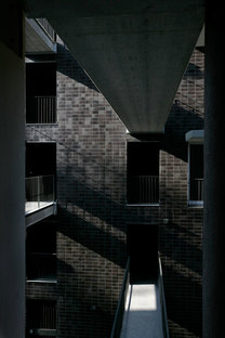 Walkways connecting apartments on different levels