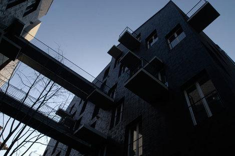 The dynamism of the façade design