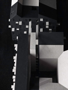 Model, dark parts of the new construction