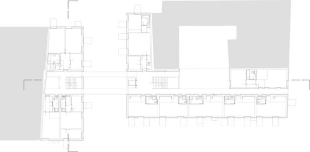 Plans of the second and fourth floor
