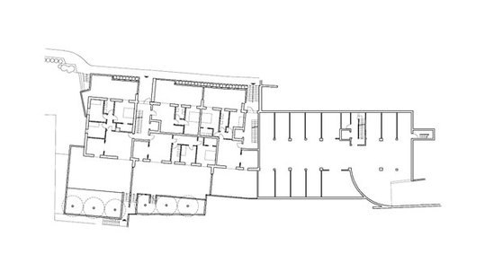 Plan of level 2, residences and garage