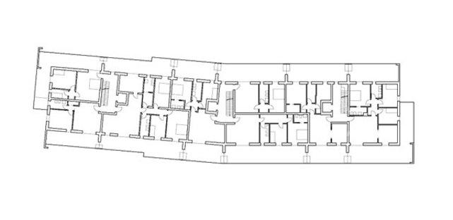 Plan of level 4, residences