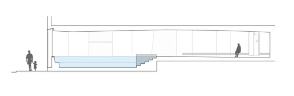 Cross section of the spa