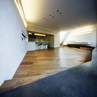 Sunken living room on ground floor