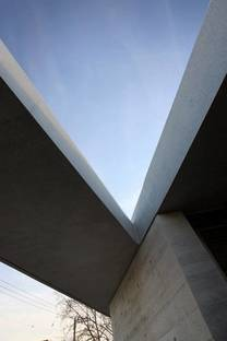 Cement structure and skylight in the roof