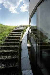 Stairs to the roof garden