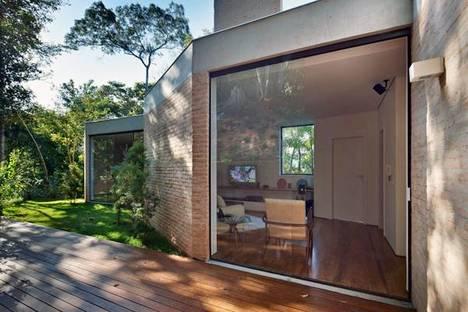 Windows and bare brick walls