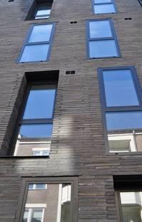 The brick cladding