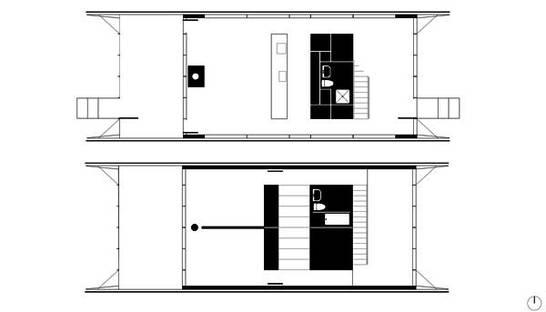 Floor plan of the ground floor and first floor