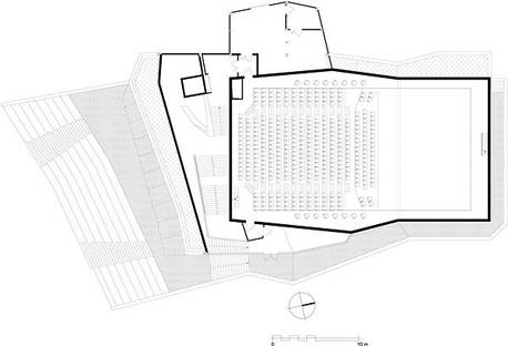 Plan of the ground floor of the complex