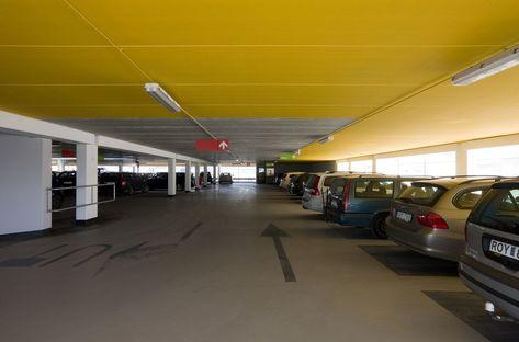 Erika car park in Malmö harbour area