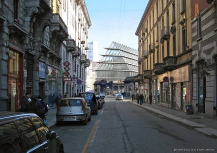 Herzog & de Meuron: itinerary between London and Milan.