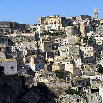 "Matera: rediscovering the ancient rock dwellings of the ""Sassi""."