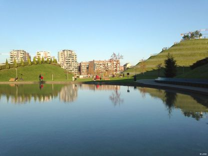 Parco Portello, Milan, project by Charles Jencks with Andreas Kipar, LAND Milano