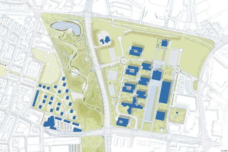 Krupp-Park Essen, urban redevelopment project by Andreas Kipar