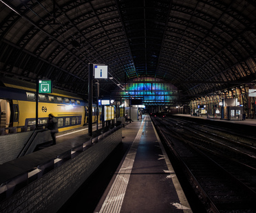 Rainbow Station at Amsterdam central station