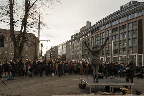 Follow-up: Y-block protest, Oslo