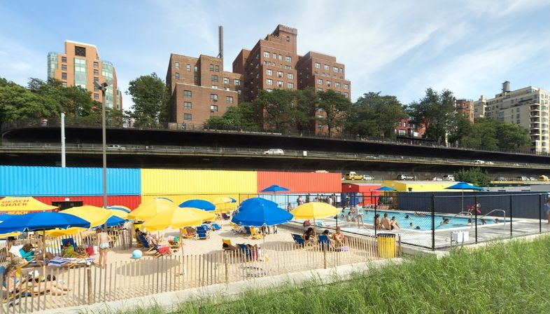 The Brooklyn Bridge Park and the Pop-Up Pool by Davis Brody Bond and Spacesmith