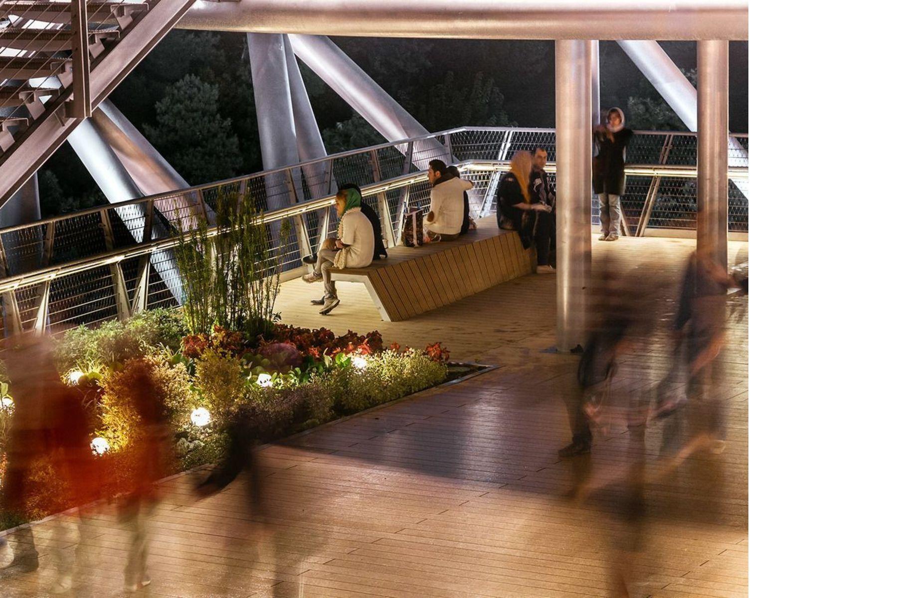 Tabiat pedestrian bridge diba tensile architecture - Fiu interior design prerequisites ...