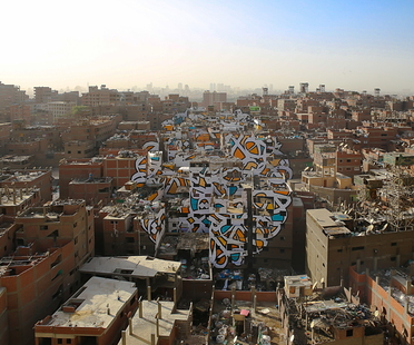 Perception, eL Seed creates a giant mural in Cairo