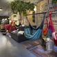 Hammock Juice Station, relaxing vegan hangout designed by Egue y Seta