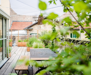 Studio 999 takes a garden to the roof in Turin