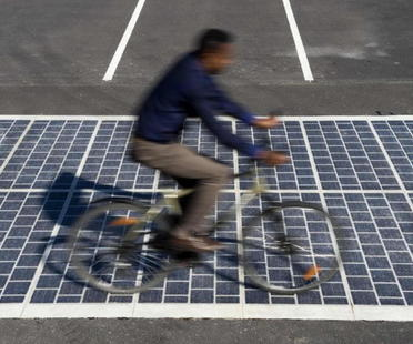 The world's first solar panel road in France