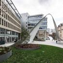 An urban sculpture by schneider+schumacher in Frankfurt