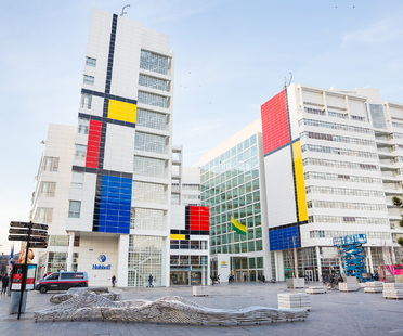 Tribute to Mondrian on an urban scale, Den Haag