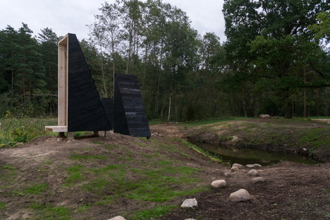 A meditation garden in the Lithuanian forest