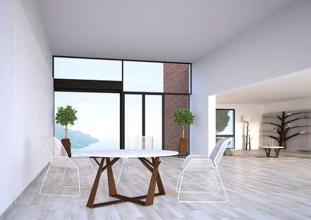 Sustainable design - stylised and technological nature