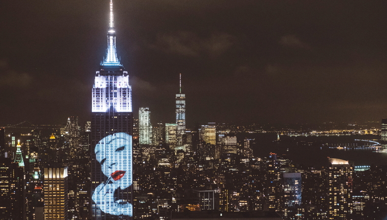 Fashion Photography on the New York skyline