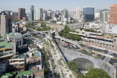 MVRDV completed Skygarden Seoullo 7017 in Seoul