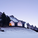 Oberholz mountain hut restaurant in South Tyrol, Peter Pichler and Pavol Mikolajcak