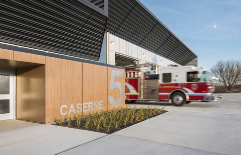 Fire Station by STGM and CCM2 in Quebec
