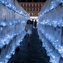 PlasticWaste Labyrinth by LuzInterruptus in Plaza Mayor, Madrid
