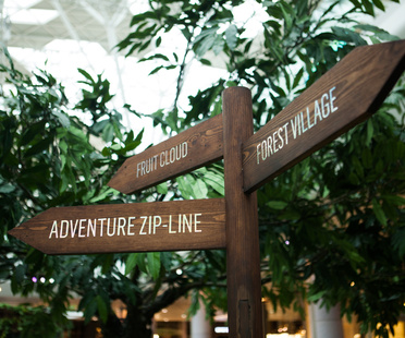 Future Forest with zip-line by Bompas & Parr in London