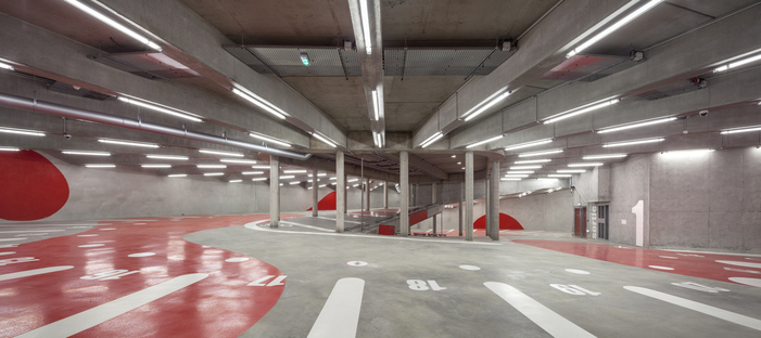 Anonyme designs a green car park in Paris