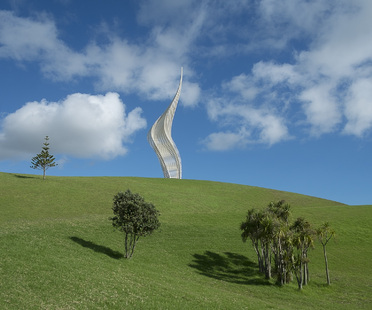 A new sculpture in Gibbs Farm Sculpture Park, New Zealand