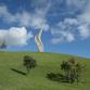 A new sculpture in Gibbs Farm Sculpture Park, New Zealand