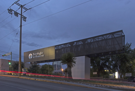 Urbánika and the new entrance to the Chihuahua Campus of ITESM