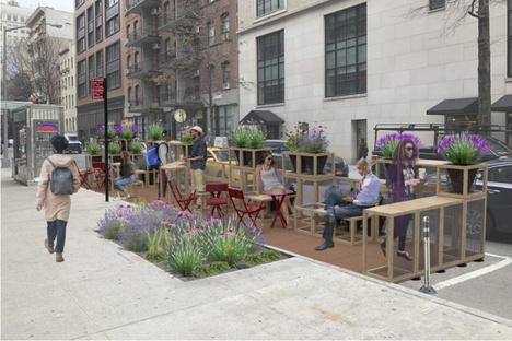 Street Seats, sustainable pop-up space in New York